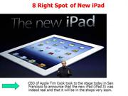 8 Right Spot of the New iPad