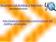 Reciprocal Link Building in New York