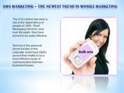 SMS Marketing - The newest trend in mobile marketing---mm.com