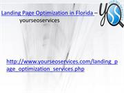 Landing Page Optimization in Florida