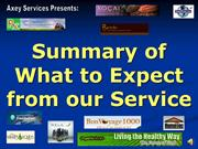 What to Expect from Our Service