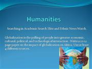 humanities databases