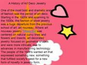 A History of Art Deco Jewelry