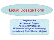 monophasic liquid dosage forms