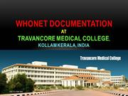 WHONET DOCUMENTATION, TRAVANCORE MEDICAL COLLEGE