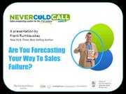 Forecasting Your Way To Sales Failure