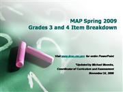 2009 MAP Testing Breakdown 3rd and 4th G...