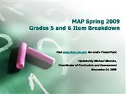 2009 MAP Testing Breakdown 5th and 6th G...