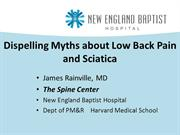Dispelling Myths about Low Back Pain and Sciatica