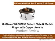 UniFlame WAD820SP 34-Inch Slate & Marble Fire Pit  Review