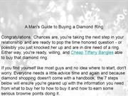 A Man's Guide to Buying a Diamond Ring