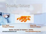 Dispensing Pharmacy By Ashish Jain & Dr S Nayak