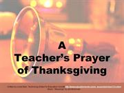 A Teacher's Prayer of Thanksgiving