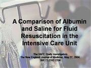 Albumin vs Saline in Resus