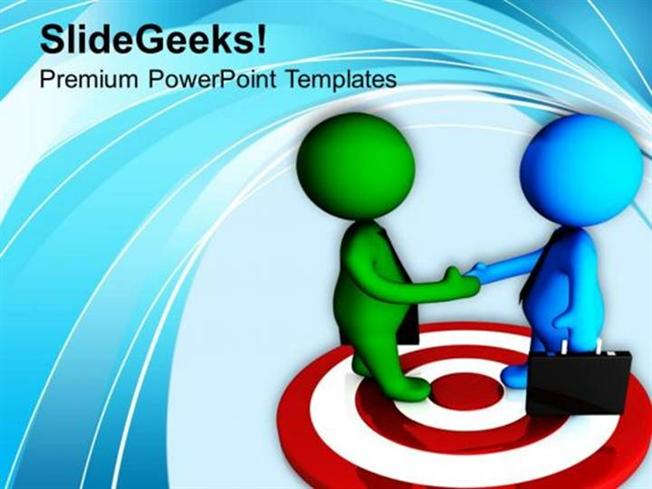 targets team achieved the target business meeting ppt template