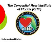 CHIF Informational Packet 2005-01-01