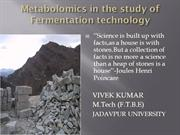 Metabolomics in food technology