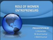 ROLE OF WOMEN ENTREPRENEUR