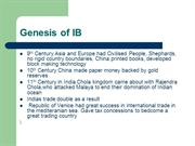 Genesis_of_IB