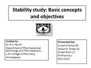 Stability study