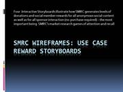 SMRC Use Cases / Reward Storyboards