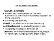 PPT growth and development
