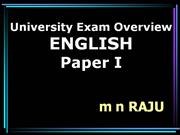 Degree First Year English OU Exam