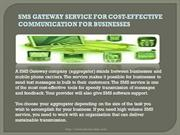 SMS Gateway service for effective cost-effective communication-shortco