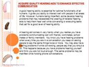 Acquire quality Hearing aids to enhance effective communication-valueh