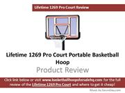 Lifetime 1269 Pro Court Basketball Hoop