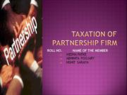 Taxation of partnership firm