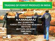TRADING OF FOREST PRODUCE IN INDIA