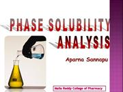 Phase solubility Analysis