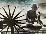 Non- Cooperation Movement