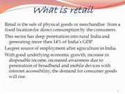 Business Strategy For Retail sector in INDIA