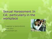 Sexual Harassment In CA