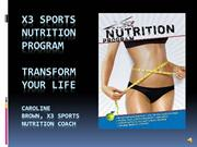 X3 Sports Intro to Nutrition Workshop and Group Sessions