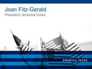 America Votes CLUW Presentation for Joan Fitz-Gerald