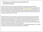 Petroleum Lubricants and Its Benefits from Josiah Wintermute
