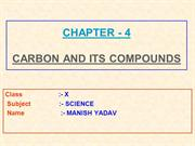 4-CARBON AND ITS COMPOUNDS