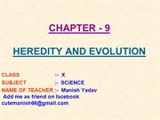 9-HEREDITY AND EVOLUTION