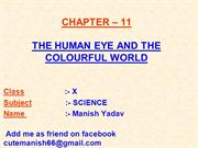 11-THE HUMAN EYE AND THE COLOURFUL WORLD