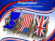 TRAVEL THREE DIFFERENT NATIONAL FLAGS PPT TEMPLATE