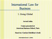 1 Introduction to Intnl business law