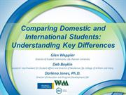 2012 NASPA Comparing Domestic & International Students