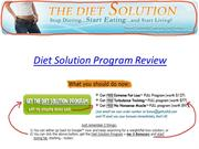 Diet Solution Program Review