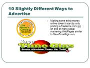 10 Slightly Different Ways to Advertise