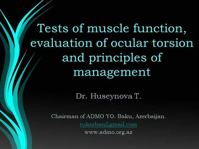 Muscles Test Tests of Muscle Function |