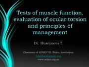 Tests of muscle function