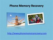 Phone Memory Recovery - A Easy To Use Recovery Program